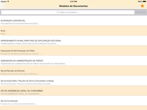 Modelo de Documentos iPad Screenshot 1