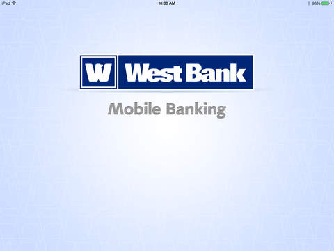 West Bank Mobile Banking for iPad