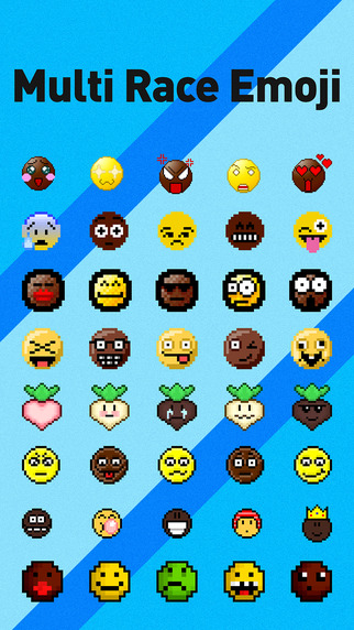 Multi Race Emoji - Custom Emojis Keyboard with Yellow Black Smileys for All Races