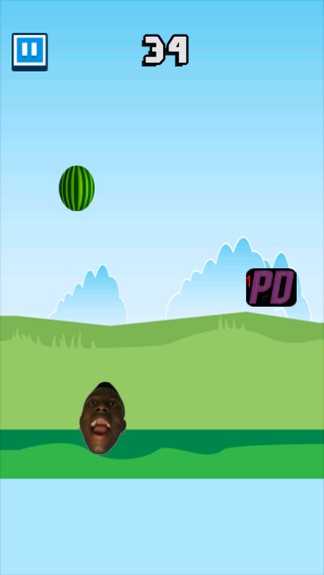 Screenshots of Melon Drop - Jerry Purpdrank's Arcade for iPhone