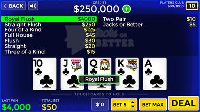 Screenshot 1 Лаки Видео Покер — бесплатно Видео Покер Обучение и моделирование