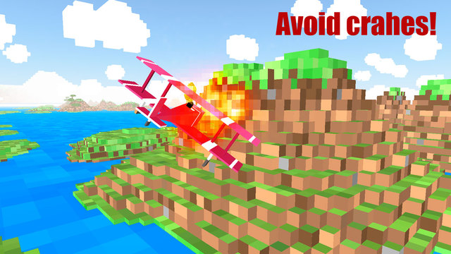 Blocky Plane Flight Simulator 3D Full Screenshots