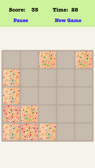 Color Blind 5X5 - Playing With Piano Sound Sliding Number Tiles