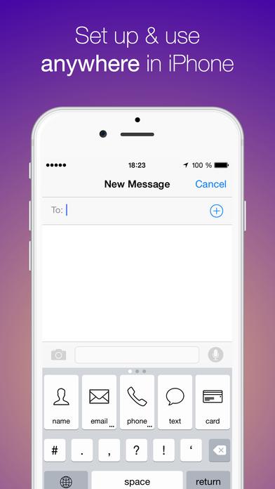 OftenType - быстрые клавиши для часто используемых текстов Screenshot