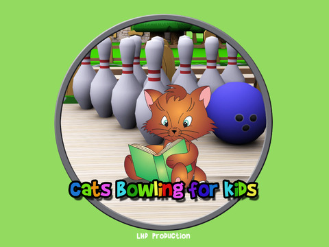 cats bowling for kids vip iPad Screenshot 1