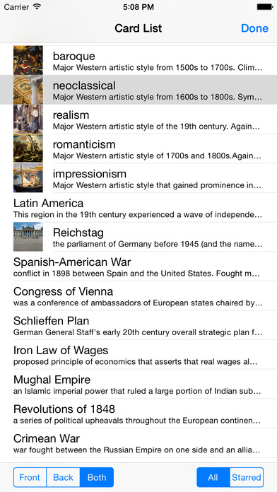Flashcardlet iPhone Screenshot 4