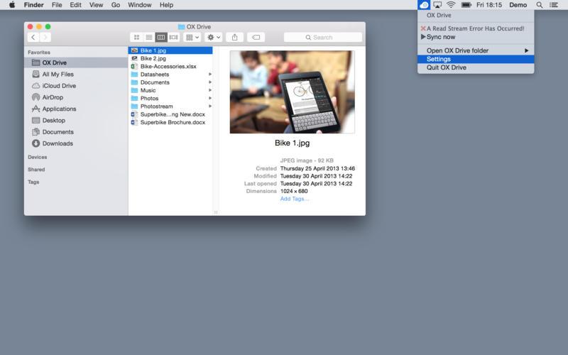 OX Drive Screenshot - 2