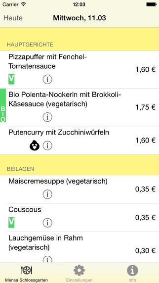 MensOS - Speiseplan für die Mensa Osnabrück