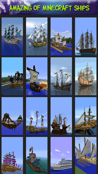 Amazing of Ships Wallpaper for Minecraft