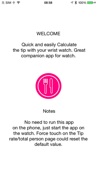 Tip Cal for Apple Watch