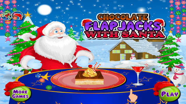 Chocolate Flap Jacks With Santa - Christmas Games