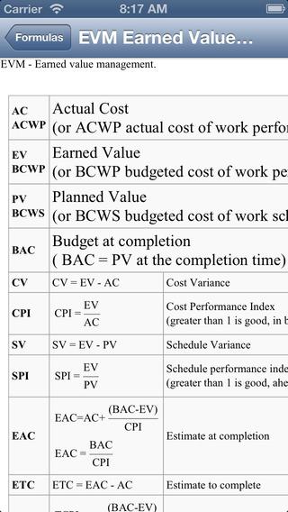 PM Formulas Pro PMP exam prep