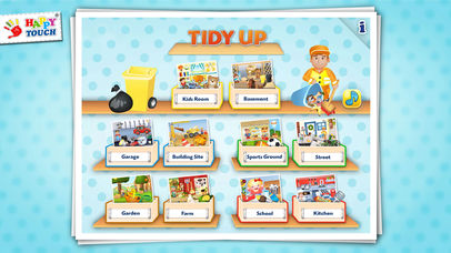 A Funny Clean Up Game - All Kids Can Clean Up! By Happy-Touch® Pocket