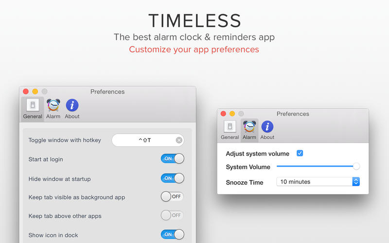 Timeless - Alarm Clock & Reminders Screenshots