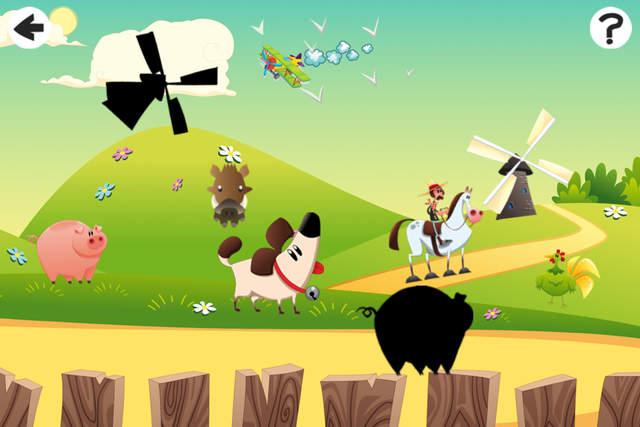 动画影之谜:有趣的游戏小的孩子有开心农场动物
