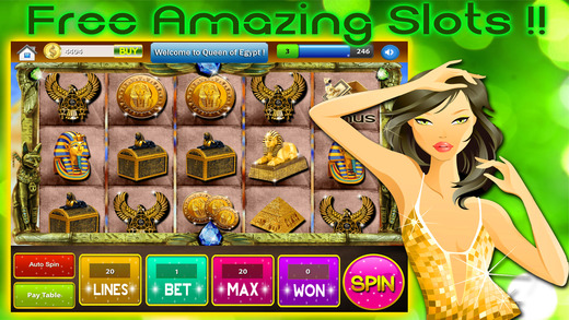 Egypt Queen Slots- The Egyptain Pharohs Way Slot