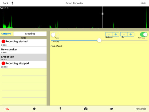 Smart Recorder iPad Screenshot 1