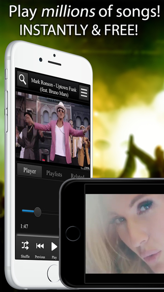 StereoTube Music Player for YouTube VEVO - Millions of free songs videos