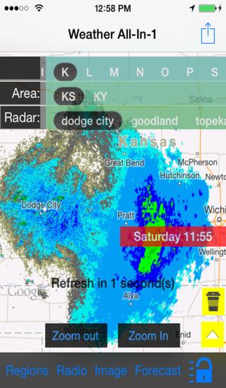 Kansas US Instant Radar Finder Alert Radio Forecast All-In-1 - Radar Now