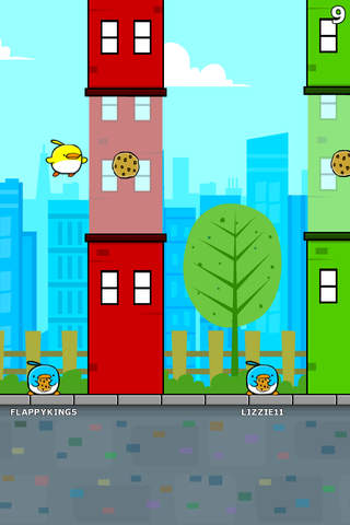 Screenshot 1 Cookie Bird in Flappy City FREE - Cute Flying Games For Kids