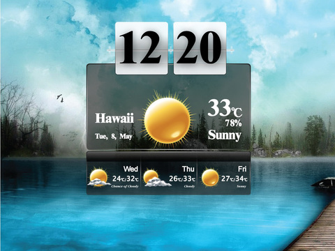 Awesome World Weathers Clock HD