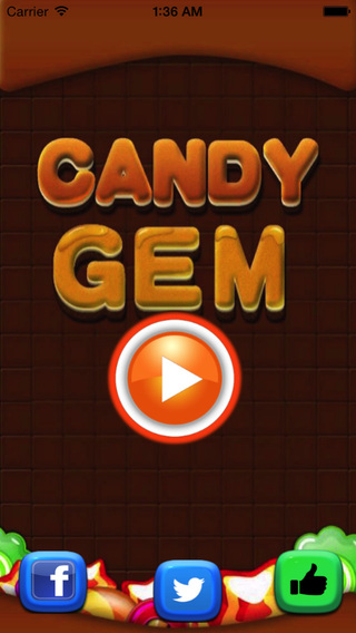 Candy Gem Blast Blitz- Match and Pop 3 Candies for Boys and Girls