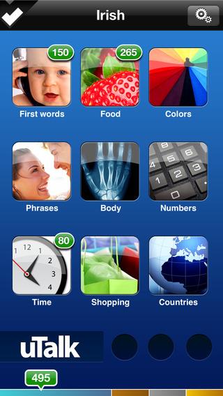 uTalk HD Irish iPhone Screenshot 1