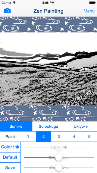 Zen Painting - Japanese Style Painting Ukiyo-e Image and India Ink Painting Suibokuga・Sumie Effects