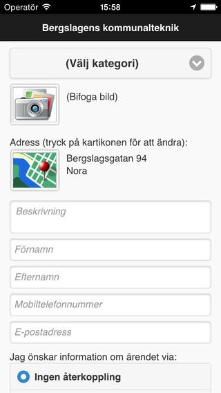Felanmälan Bergslagens kommunalteknik