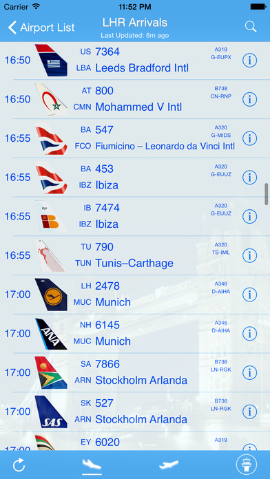 Luton Airport - iPlane Flight Information iPhone Screenshot 1