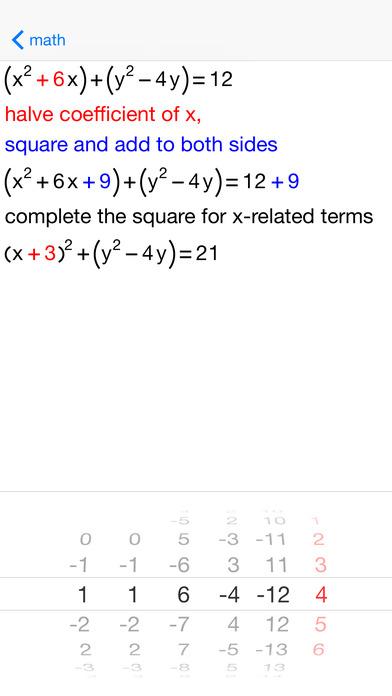 Circle Equations iPhone Screenshot 3