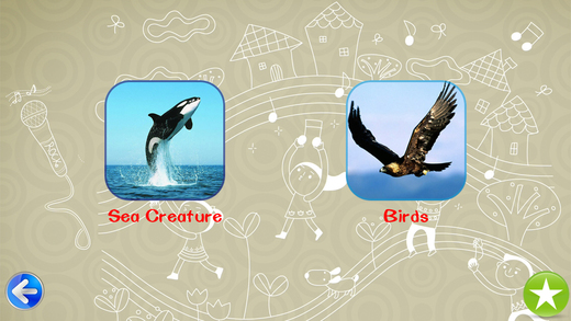 Learning Birds and Sea Creatures for 0-6 years old kid