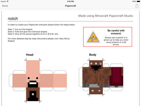 Minecraft Papercraft Studio screenshot