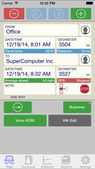 Drivers Log iPhone Screenshot 1