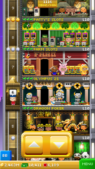Screenshots of Tiny Tower Vegas for iPhone