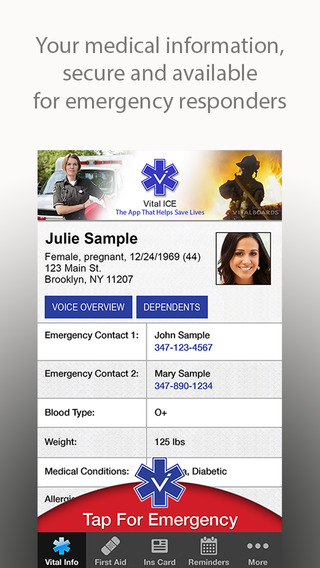 Vital ICE - The In Case of Emergency App That Helps Save Lives