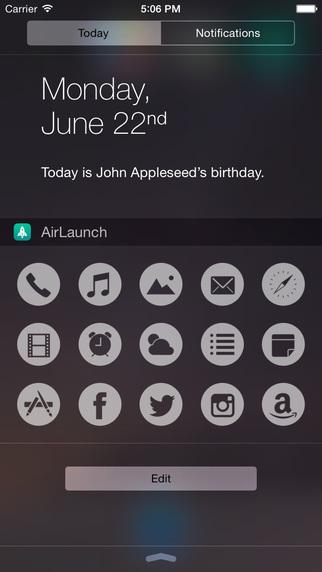 AirLaunch - Launcher on Today Widget