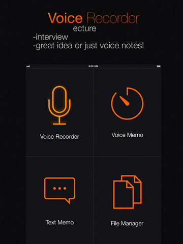 Voice Recorder PRО - smart speech & audio record utility for interviewers and students Screenshots