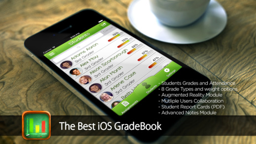 iGrade for Teacher Classroom Gradebook with Students' Grades Attendance and Notes Tracker