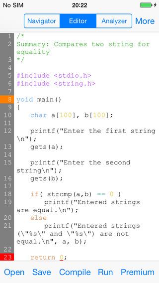 CppCode - offline C C++ IDE Compiler