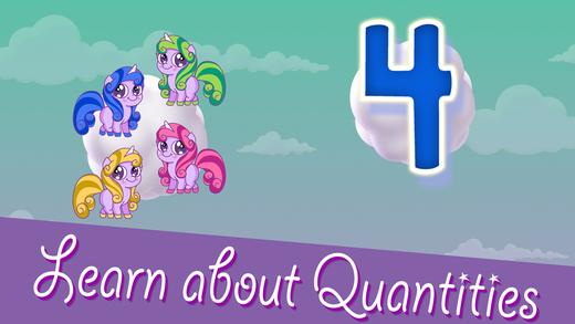 Pony Numbers Count Quantity hiding Peekaboo Puzzle