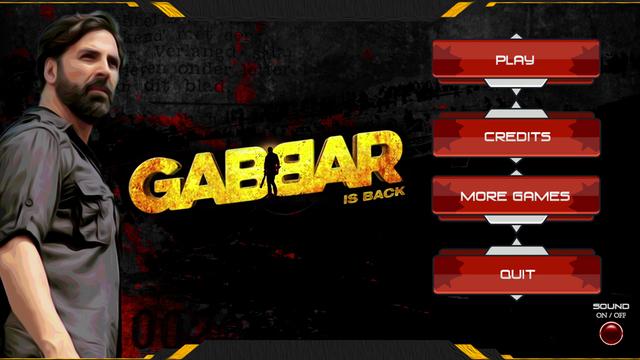 Gabbar Is Back 3D Game