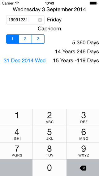 Birthdays Calculator