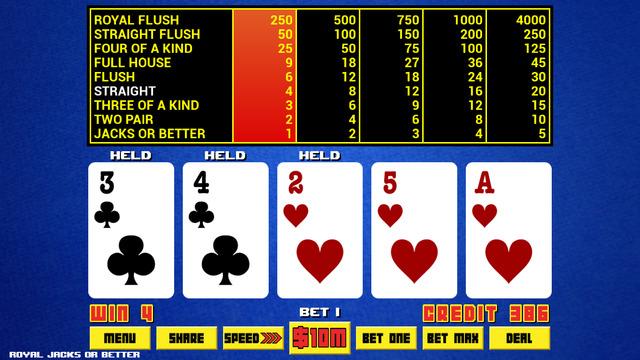 Video Poker - Royal Online Casino