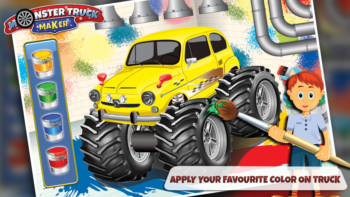 app shopper monster truck maker build the vehicle in. Black Bedroom Furniture Sets. Home Design Ideas