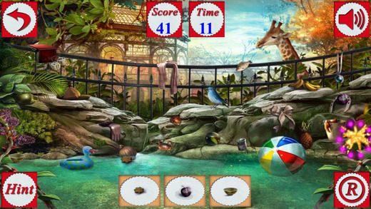 Hidden Objects Of Feed The Animals