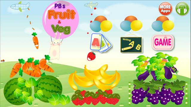 ABC Alphabet Fruit Veg Flashcards Write