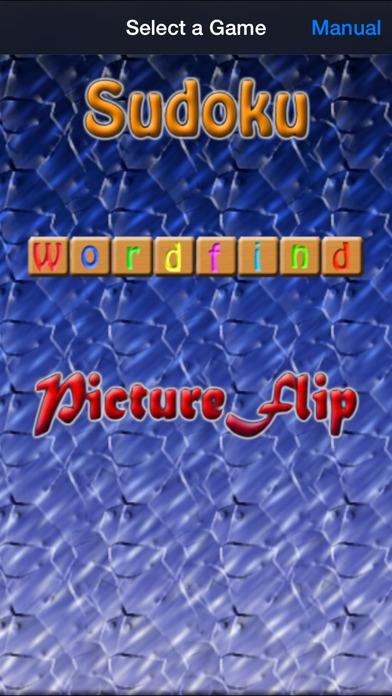 Game Pack Vol 1 - Sudoku, Wordfind & PictureFlip iPhone Screenshot 1