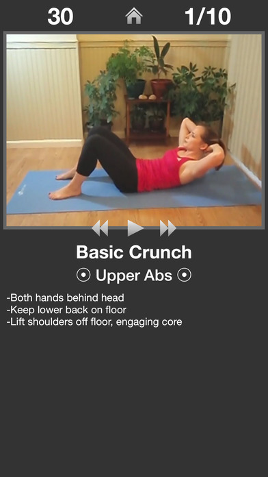 Daily Ab Workout FREE iPhone Screenshot 2