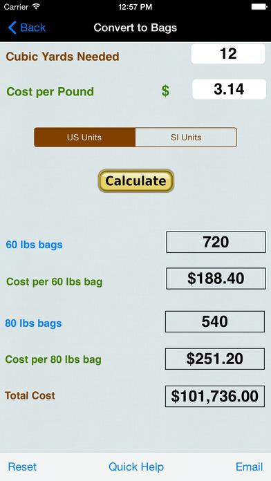 Fuel Injector Calculators iPhone Screenshot 2